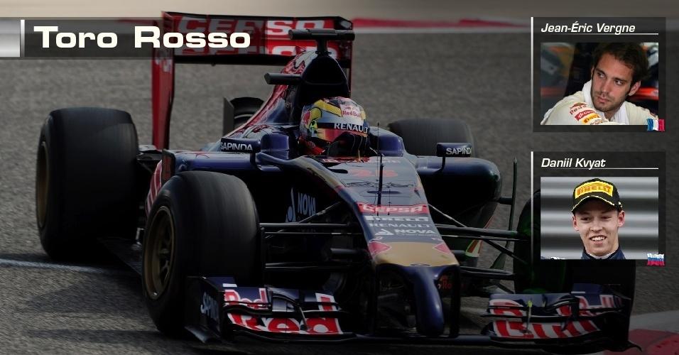 Toro Rosso - Jean-Eric Vergne e Daniil Kvyat