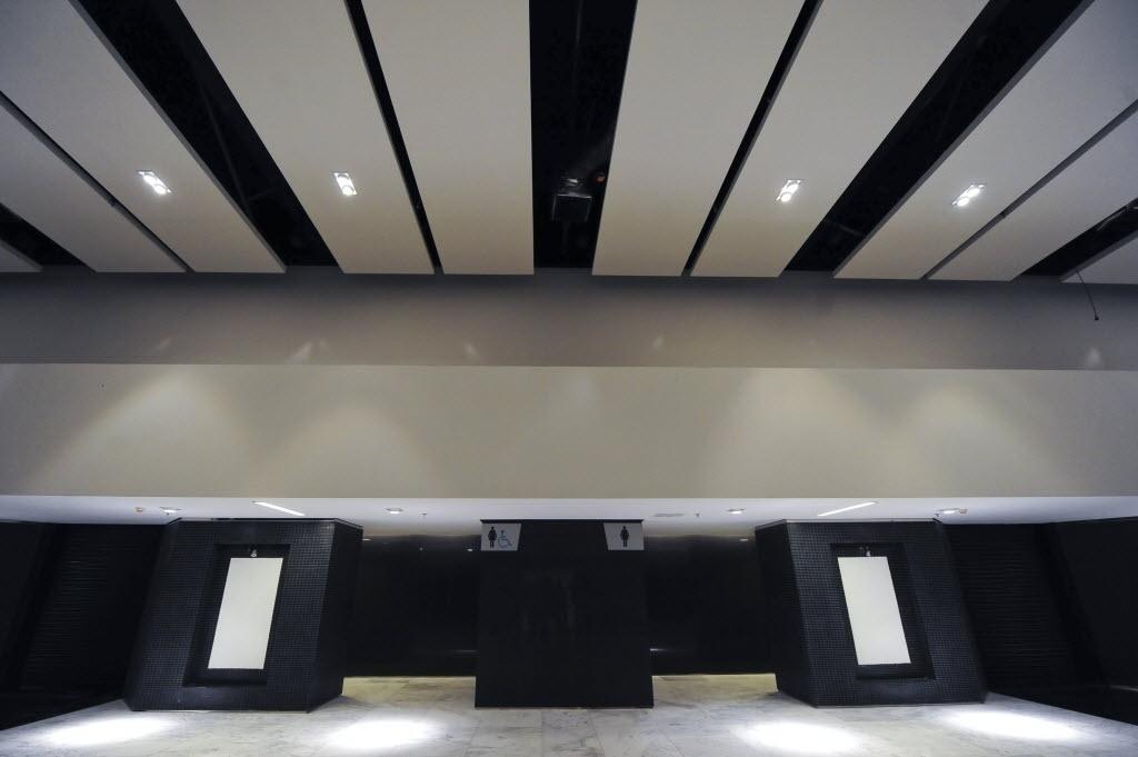 15.abr.2014 - Parte da estrutura interna do Itaquerão. Estádio foi entregue ao Corinthians nesta terça-feira (15/04)