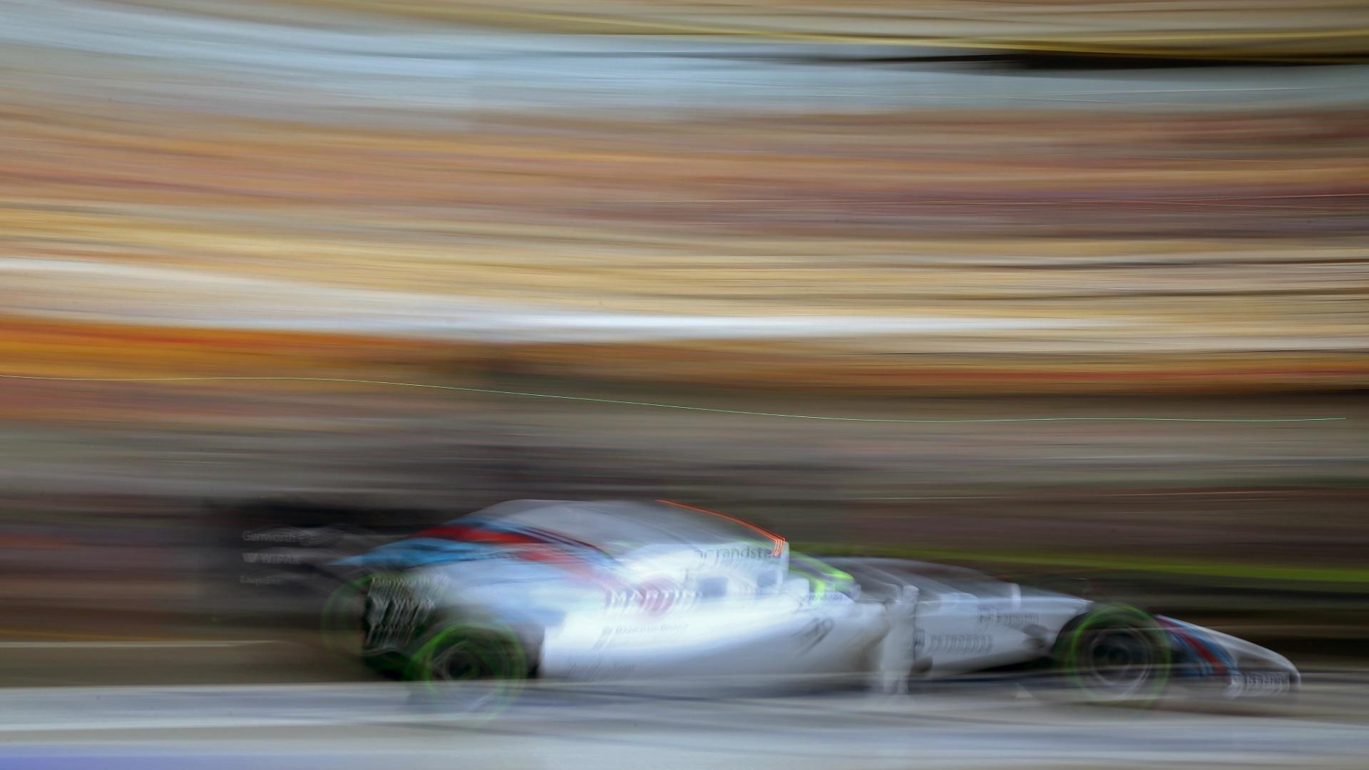 19.abr.2014 - Felipe Massa teve um bom desempenho no treino de classificação para o GP da China e larga em sexto, logo à frente de Valtteri Bottas, seu companheiro na Williams