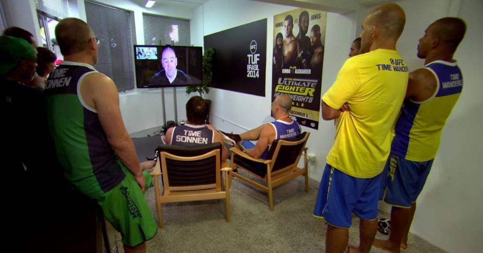 Dana White dá bronca em Wanderlei Silva e Chael Sonnen por briga no TUF Brasil 3