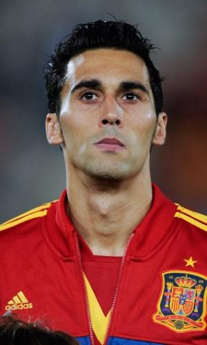11.out.2013 - Álvaro Arbeloa, da Espanha, antes da partida contra Belarus pelas eliminatórias da Copa do Mundo-2014