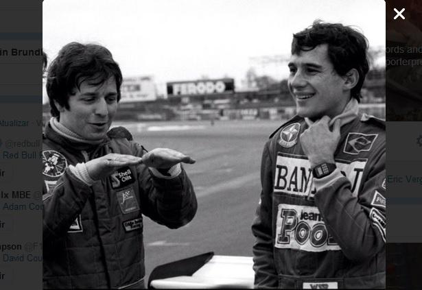24.04.14 - Martin Brundle e Ayrton Senna em 1983, quando os dois competiam na F-3 Inglesa