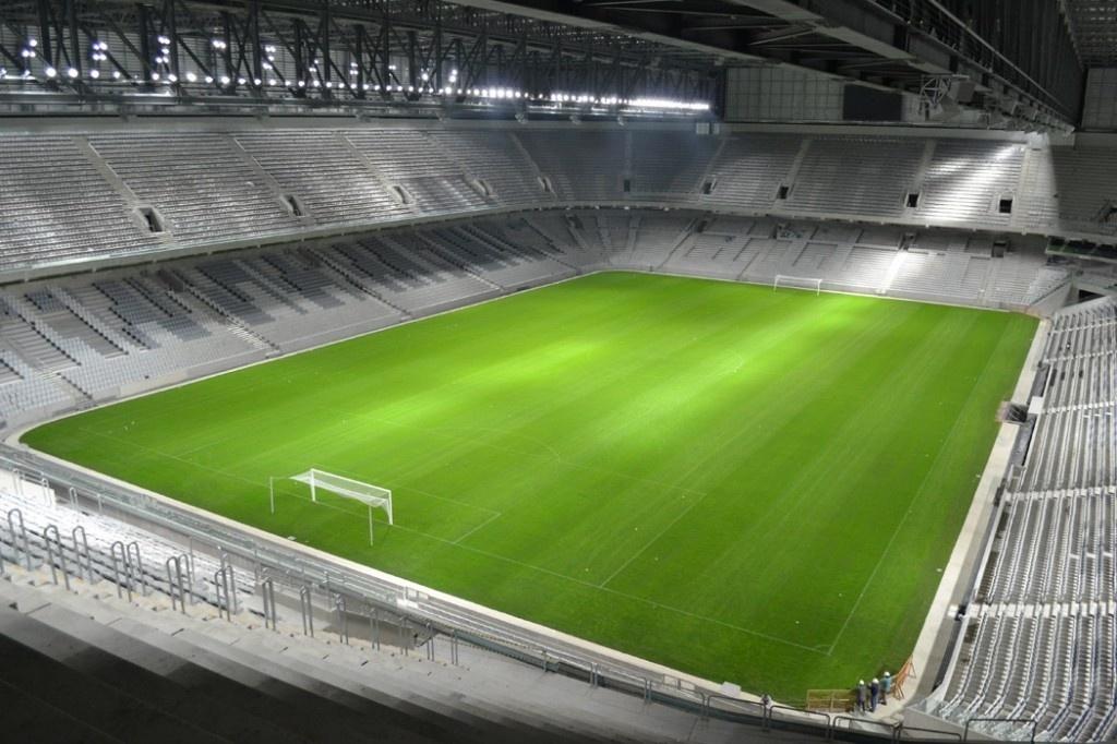 26.04.2014 - Atlético-PR divulga imagens noturnas da Arena da Baixada
