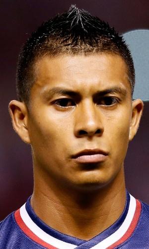 06.set.2013 - Michael Orozco, dos EUA, se perfila antes da partida contra a Costa Rica pelas eliminatórias da Copa do Mundo-2014