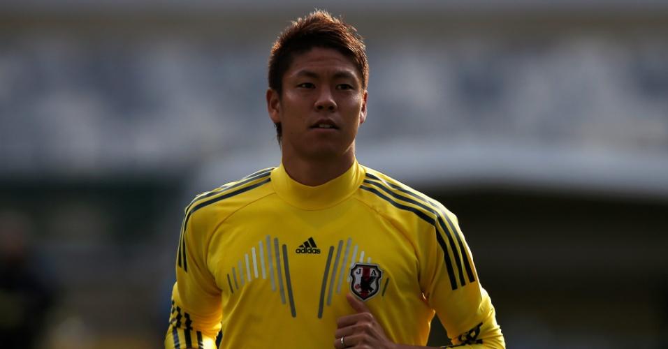 21.jun.2013 - Masahiko Inoha participa de treino do Japão, que se prepara para jogo da Copa das Confederações
