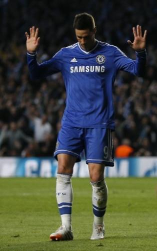 Torres não comemora após marcar para o Chelsea contra o Atlético de Madri (30.abr.2014)