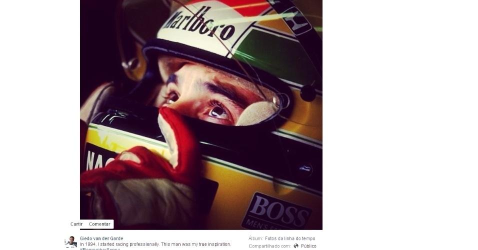 Holandês Giedo van der Garde, atualmente piloto de testes da Sauber, disse que começou sua trajetória no automobilismo em 1994, ano em que Senna morreu.