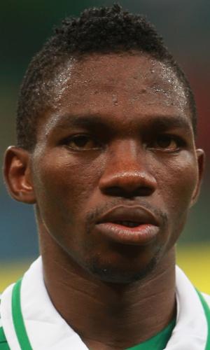 20.jun.2013 - Kenneth Omeruo, da Nigéria, fica perfilado antes da partida contra o Uruguai pela Copa das Confederações