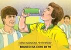 """Como Maradona """"envenenou"""" Branco em 1990 - Arte UOL"""
