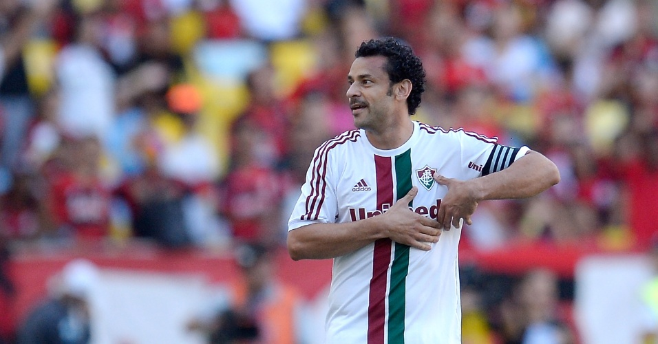 Fred comemora gol do Fluminense no clássico contra o Flamengo - 11.05.14