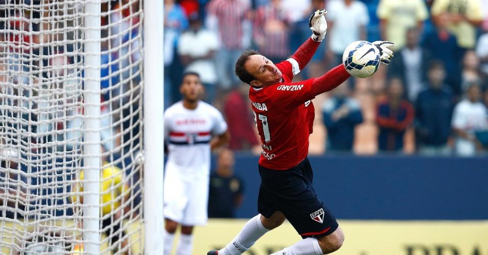 Rogério Ceni faz grande defesa durante o clássico entre São Paulo e Corinthians pelo Brasileirão