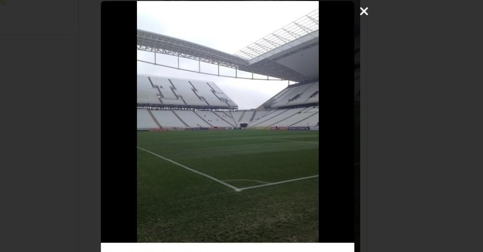 18.mai.2014 - No Twitter, o Corinthians também postou uma imagem: