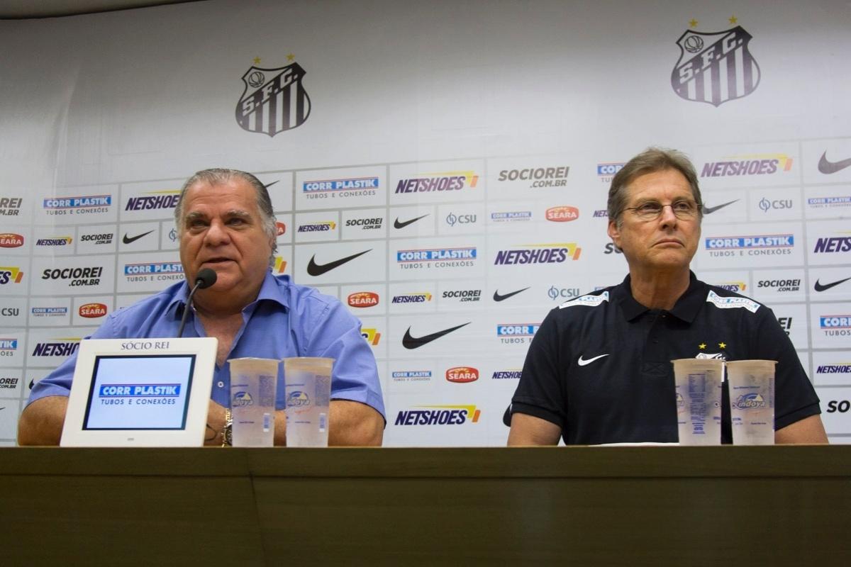 Diretoria do Santos e técnico Oswaldo de Oliveira já não falam a