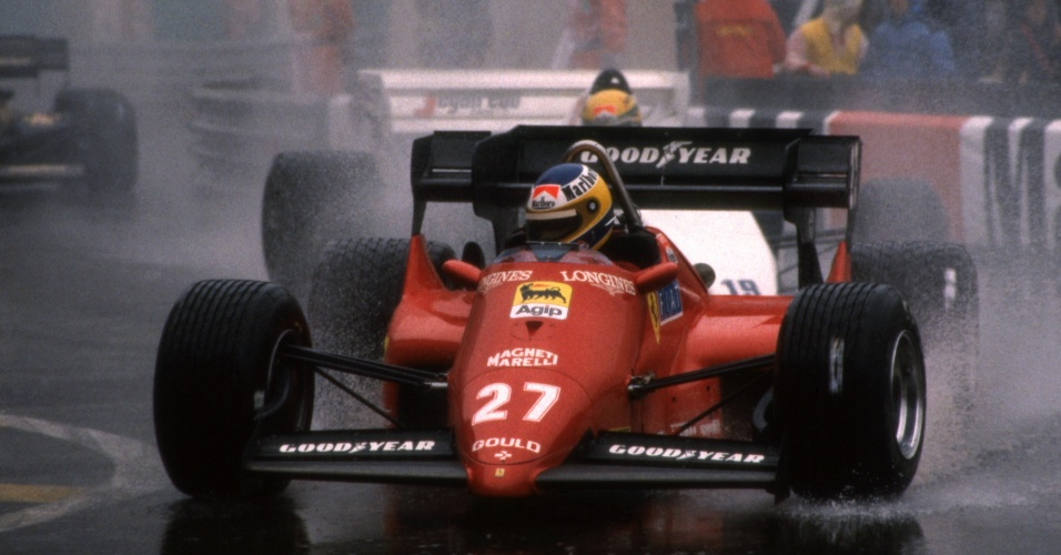 03.06.84 - Michele Alboreto e Ayrton Senna durante o GP de Mônaco de 1984
