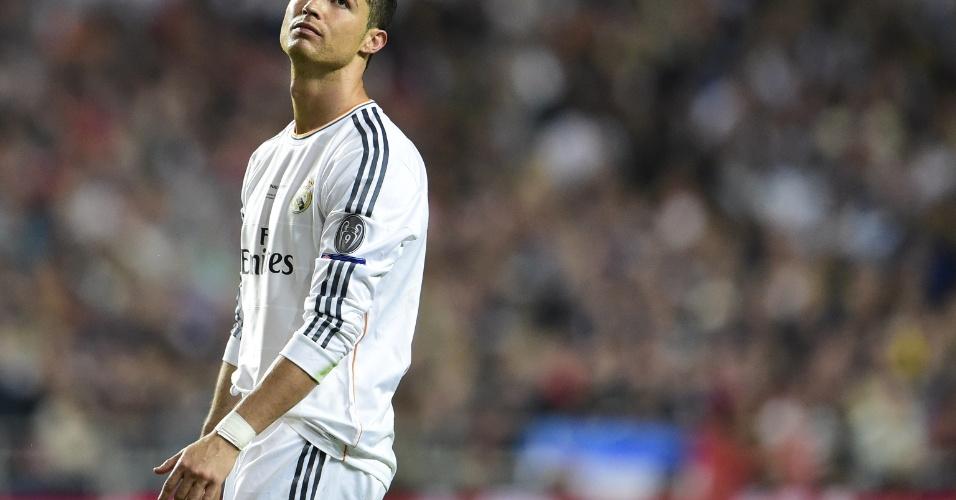 24.mai.2014 - Cristiano Ronaldo lamenta chance desperdiçada pelo Real Madrid durante final da Liga dos Campeões