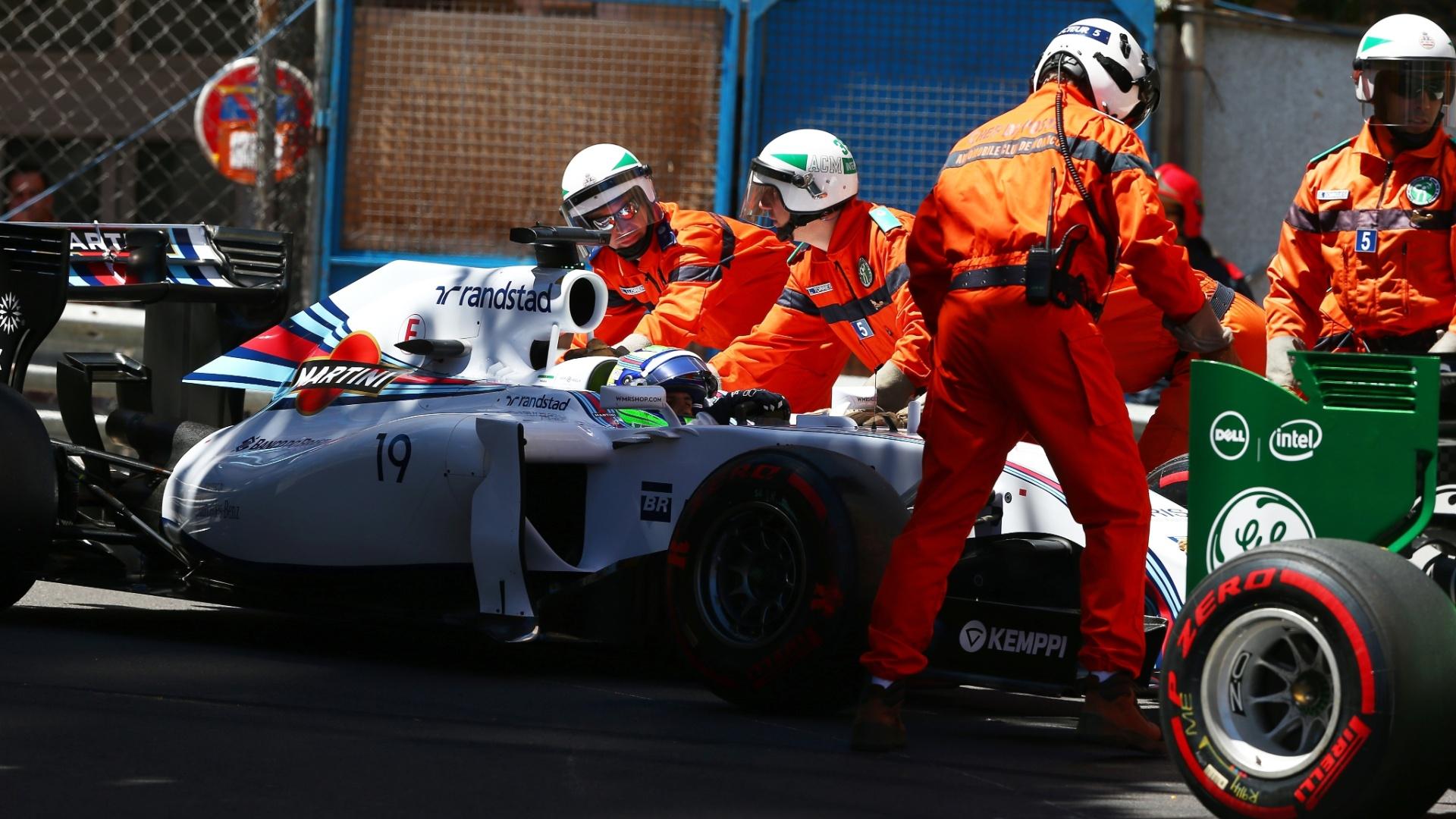 Felipe Massa precisou abandonar o treino oficial após se envolver em acidente com Ericsson