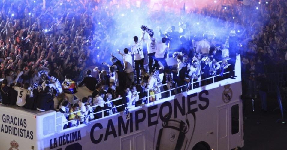 25.05.2014 - Multidão vibra com a décima conquista do Real Madrid na Liga dos Campeões