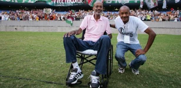 Washington (esq), ao lado de Assis, com quem formou dupla antológica no Fluminense