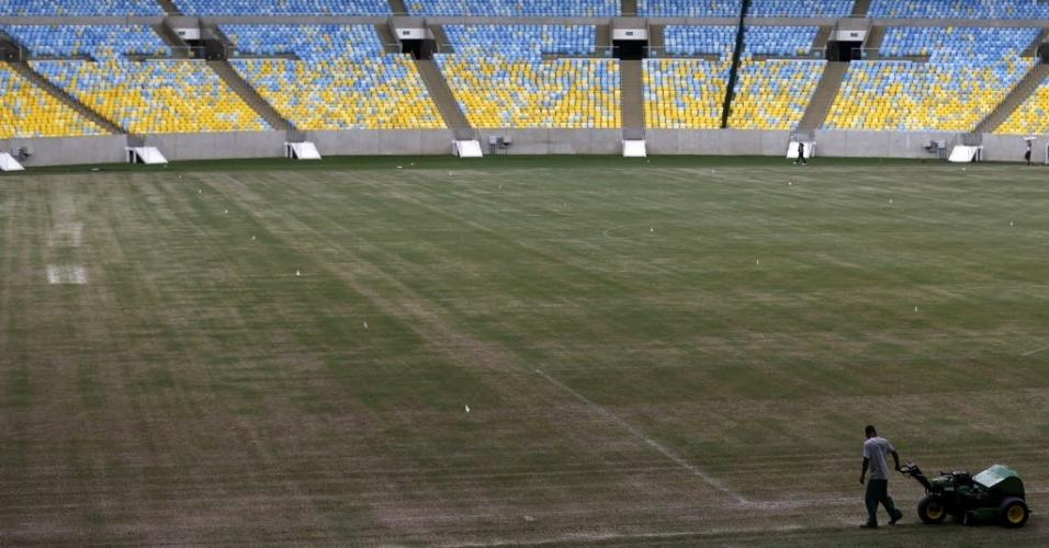 Atual estado do gramado do Maracanã