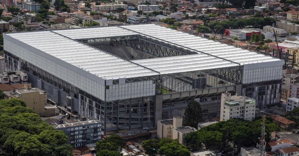 Foto aérea da Arena da Baixada
