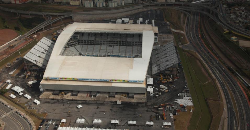 Foto aérea do Itaquerão