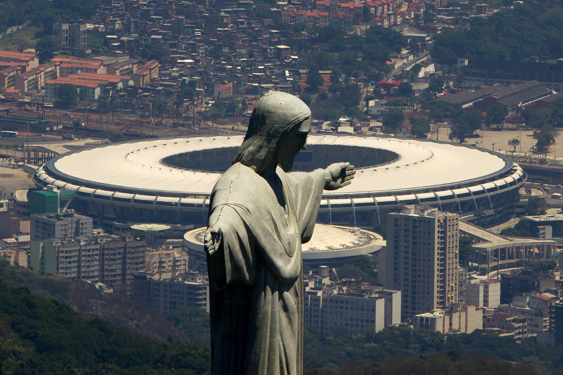 Foto aérea do Maracanã