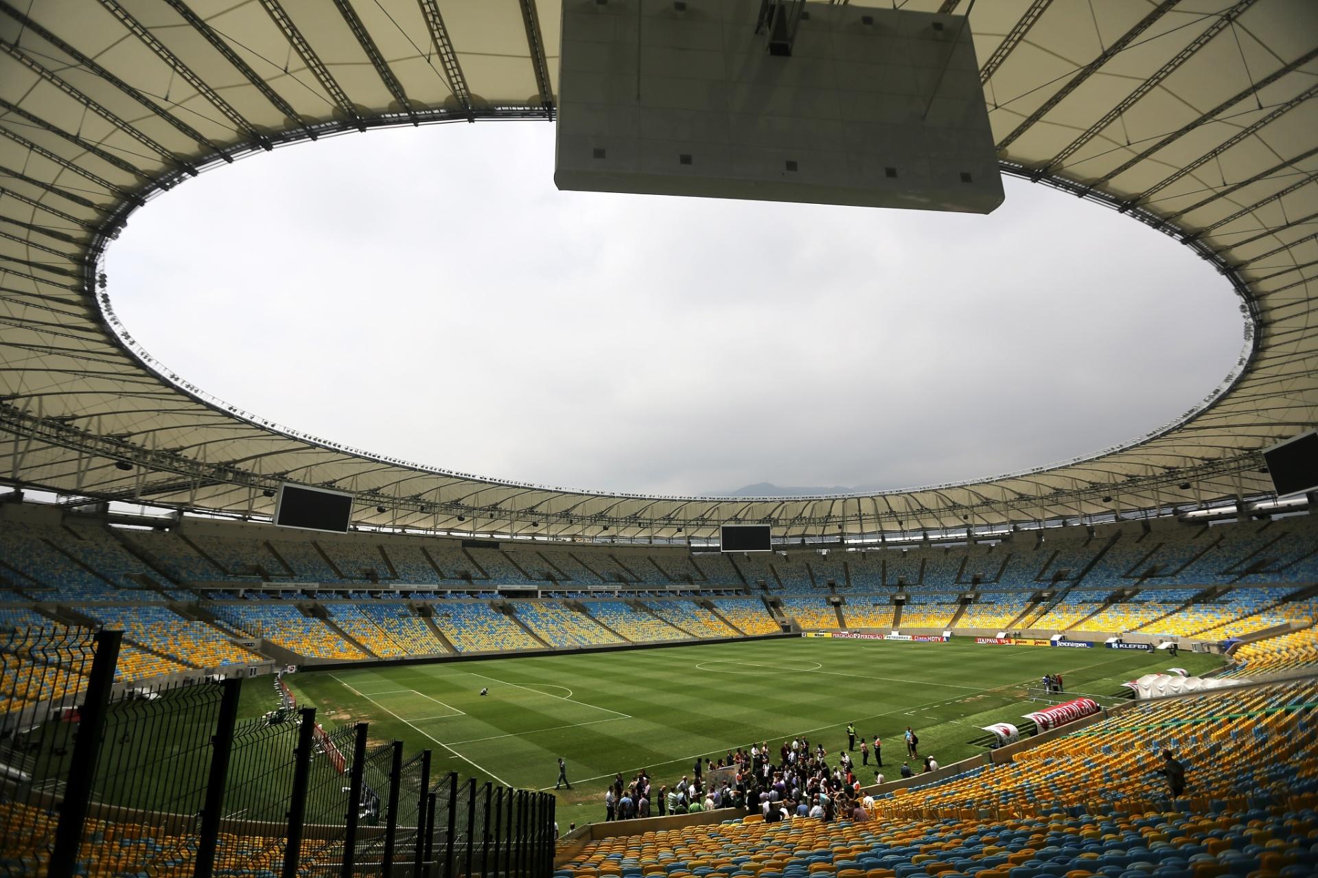 Topo das arquibancadas do Maracanã