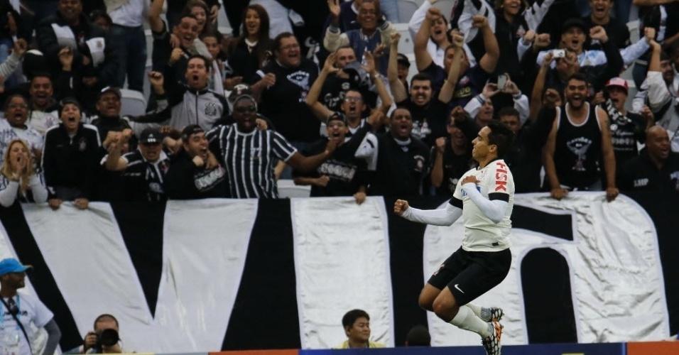01. jun. 2014  - Jadson comemora o 1° gol do Corinthians no Itaquerão