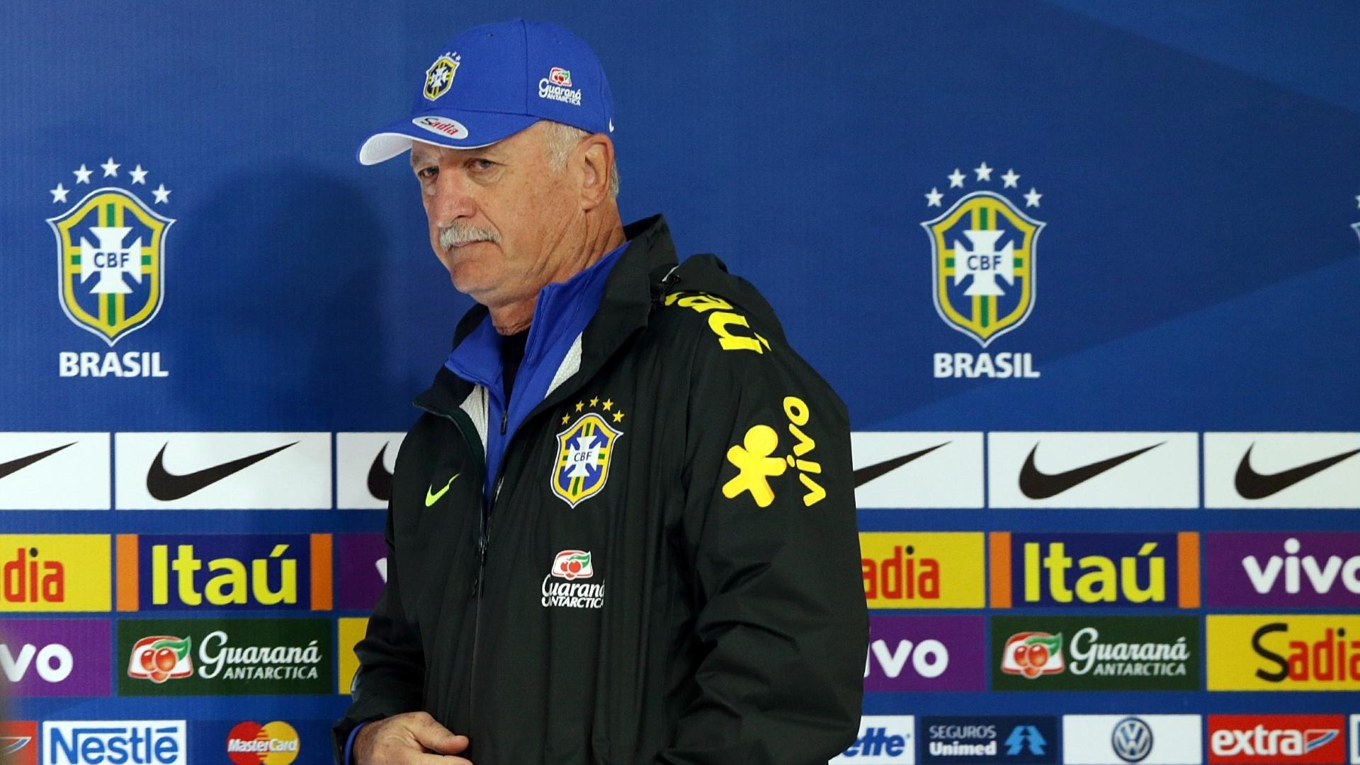 05.jun.2014 - Técnico Luiz Felipe Scolari concede entrevista coletiva na Granja Comary