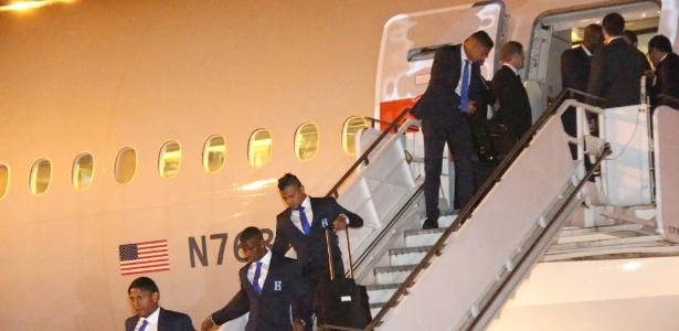 Delegação de Honduras desembarca em São Paulo para a disputa da Copa do Mundo
