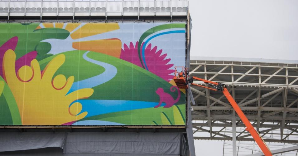A dois dias da abertura da Copa, Itaquerão ainda tem obras