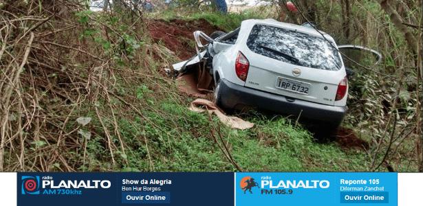 Foto do acidente em que o sobrinho de Felipão morreu nesta terça-feira