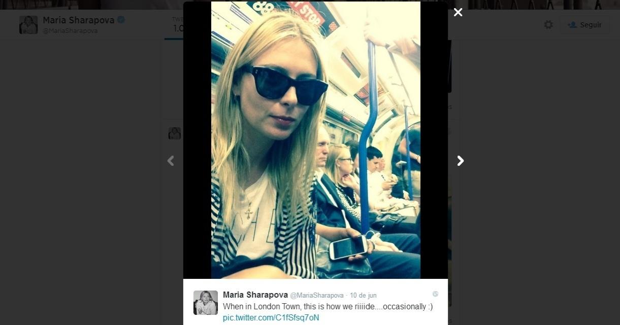 Sharapova voltou para casa de metrô após ver namorado vencer partida de tênis em Londres