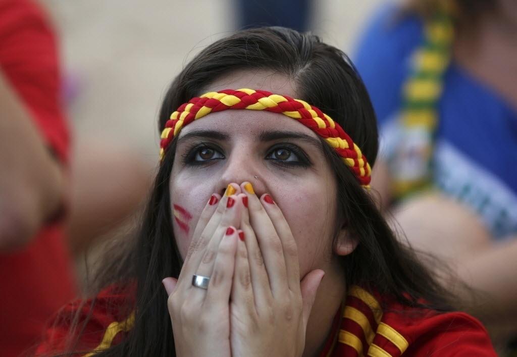 Espanhola não acredita em goleada sofrida pela seleção para a Holanda