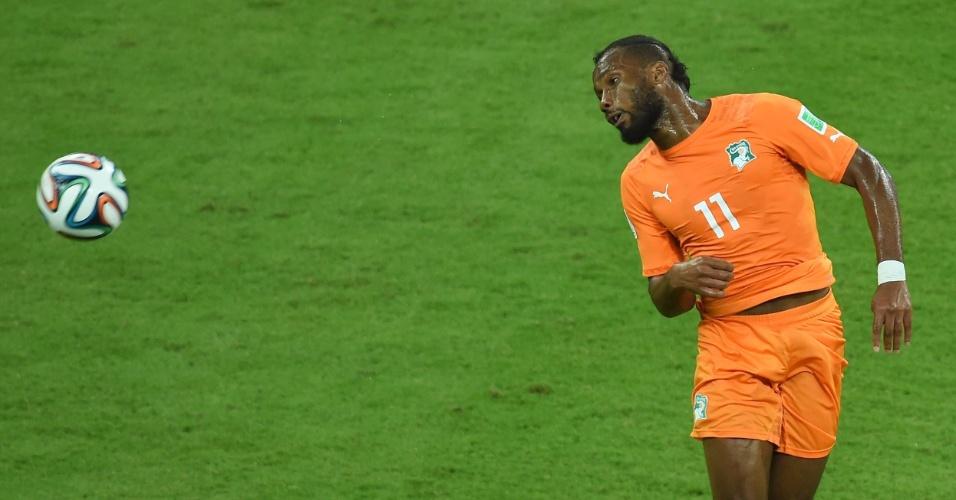Drogba entrou no segundo tempo e mudou a partida da Costa do Marfim contra o Japão, na Arena Pernambuco