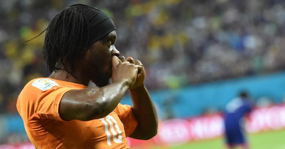Gervinho marca o segundo da Costa do Marfim e vira o jogo contra o Japão na estreia das seleções na Copa