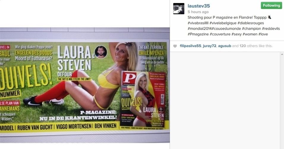 Laura Tropea é mulher de Defour