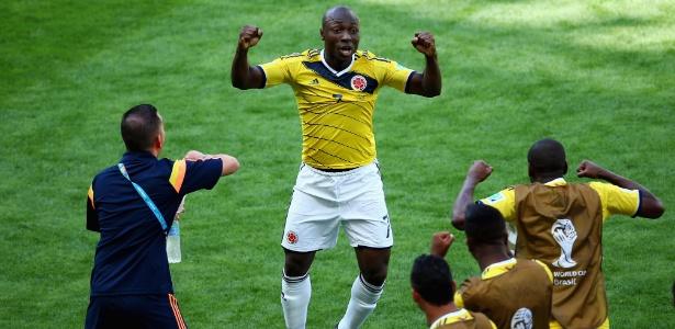 Pablo Armero comemora gol marcado pela Colômbia na Copa de 2014: reforço do Fla