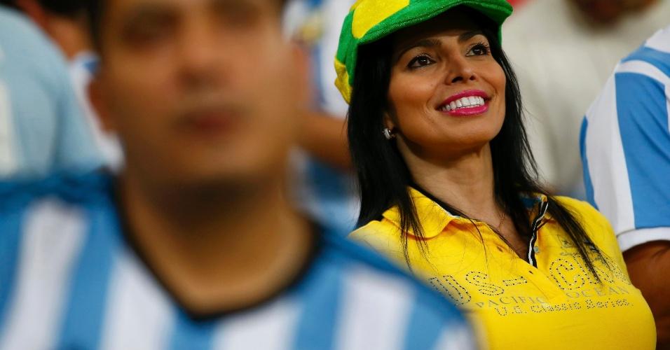 Beleza brasileira também está representada no jogo da Argentina