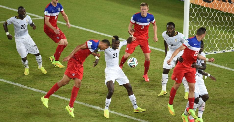 Já passava dos 40 minutos do segundo quando John Brooks subiu e colocou os EUA na frente de Gana no placar