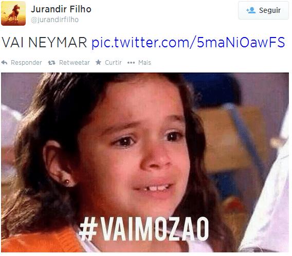 Bruna Marquezine na torcida por Neymar