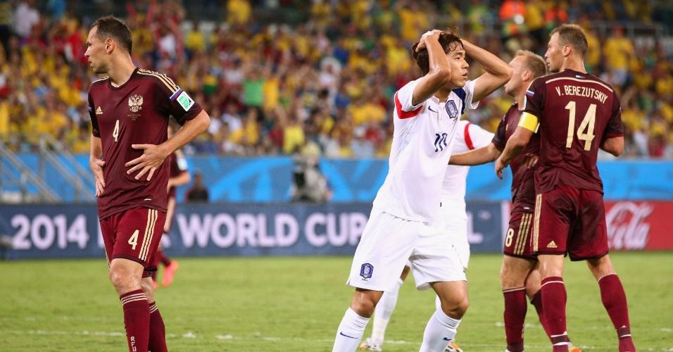 Chu-Young lamenta chance perdida pela Coreia do Sul em jogo contra a Rússia
