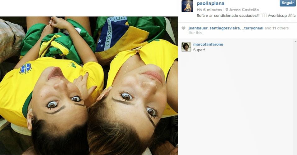 Torcedoras em dose dupla acompanham o jogo contra o México no Castelão