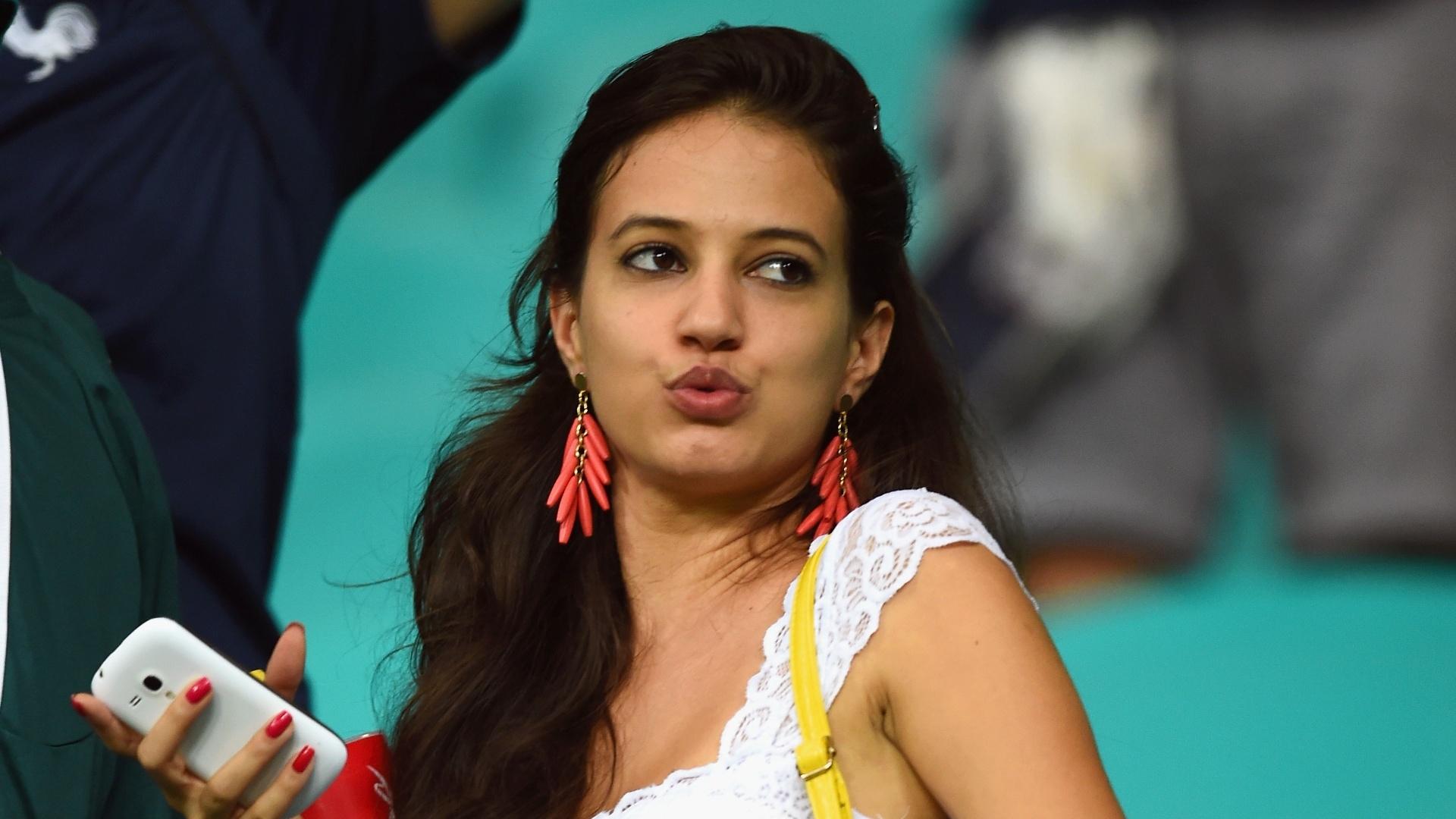 A torcedora francesa parece ter gostado da goleada de 5 a 2 em cima da Suíça na Fonte Nova