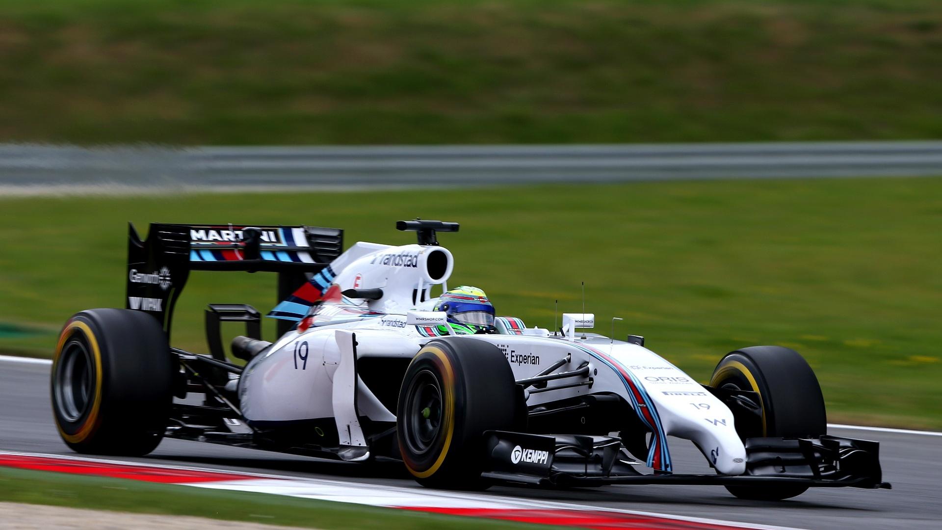 Felipe Massa, da Willians, teve bom desempenho no primeiro treinamento no GP da Áustria e terminou na quarta colocação