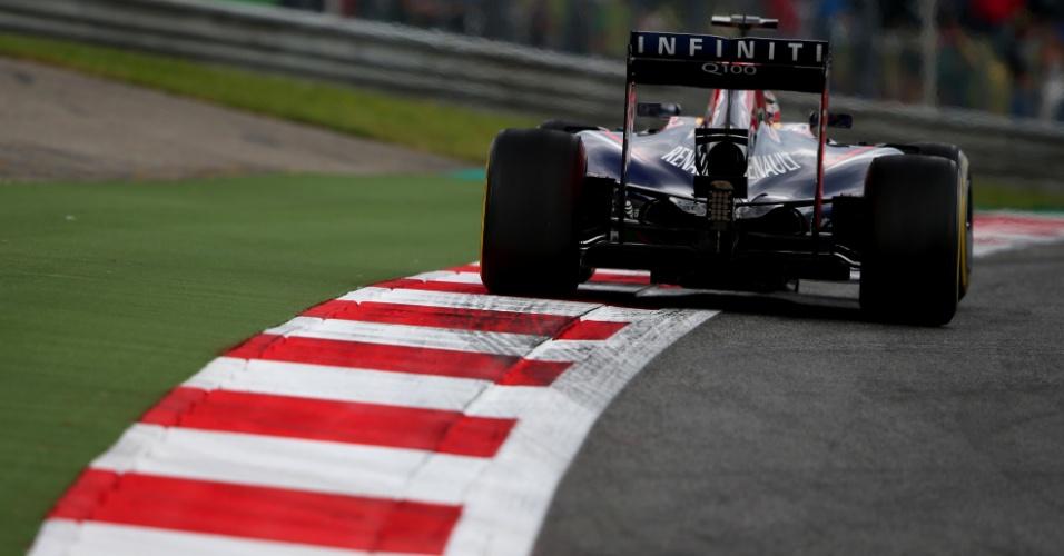 Sebastian Vettel, da Red Bull, até melhorou no fim, mas está longe do brilho das últimas temporadas