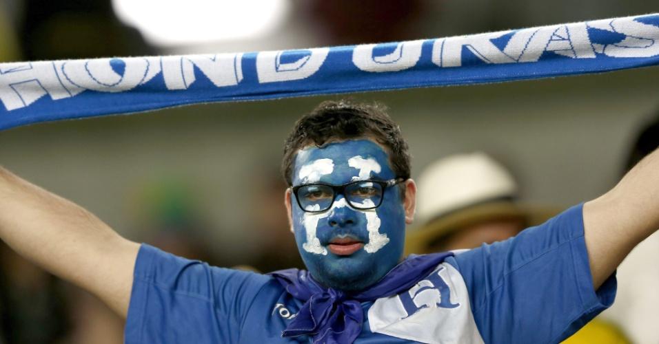 Torcida de Honduras também marca presença na Arena da Baixada, em Curitiba