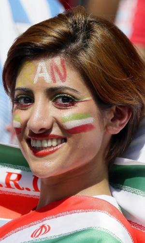 A beleza das torcedoras do Irã está muito bem representada no Mineirão