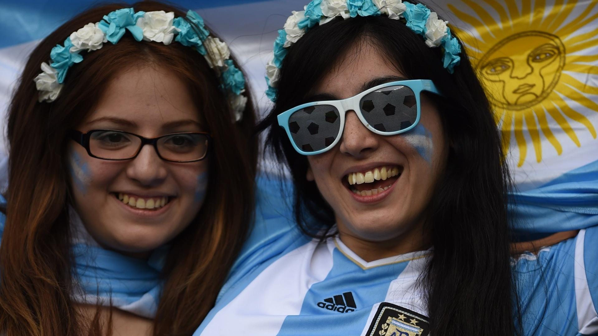 Argentinas comemoram a suada vitória em cima do Irã por 1 a 0 no Mineirão