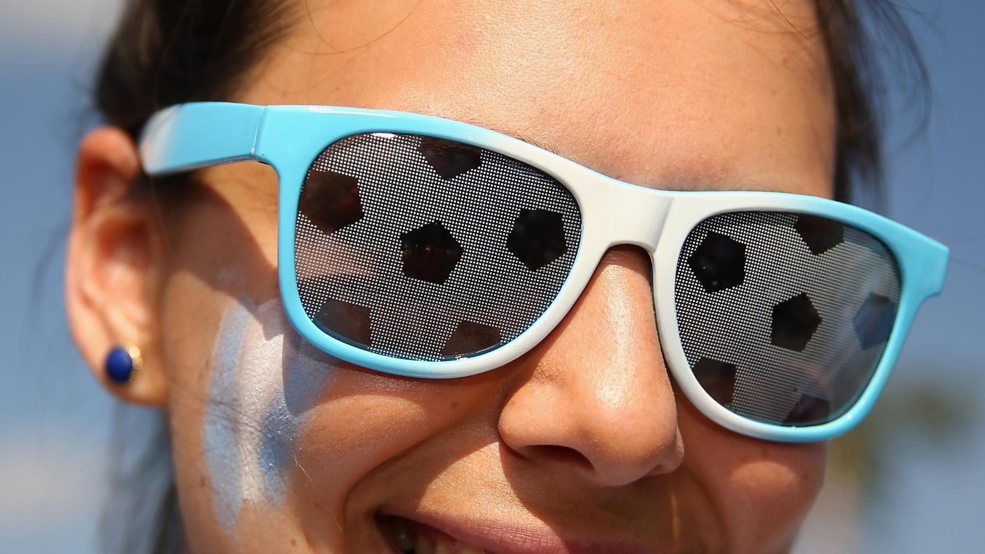 Torcedora argentina leva as cores da seleção